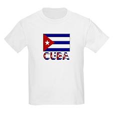 Cuba Word and Flag Kids T-Shirt