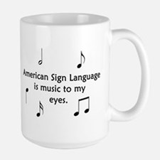 Deaf Music Large Mug