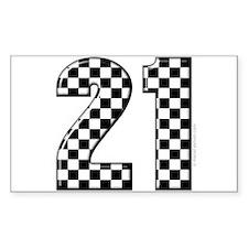 Race Car 21 Rectangle Decal