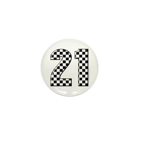 Race Car 21 Mini Button
