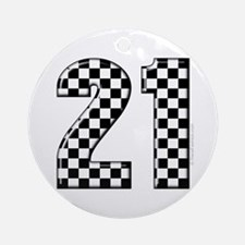 Race Car 21 Ornament (Round)