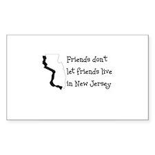 FRIENDS DON'T LET FRIENDS LIV Sticker (Rectangular
