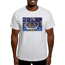 BRUSSELS GRIFFON bath Design Ash Grey T-Shirt