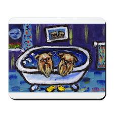 BRUSSELS GRIFFON bath Design Mousepad