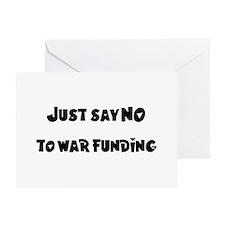 No War Funding Greeting Card