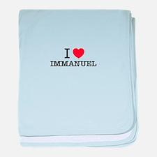 I Love IMMANUEL baby blanket