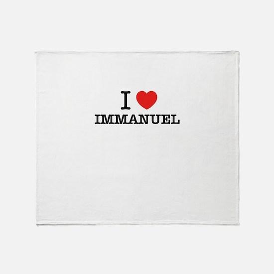 I Love IMMANUEL Throw Blanket