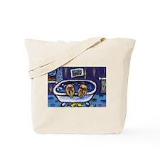 BRUSSELS GRIFFON bath Design Tote Bag
