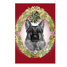 German Shepherd K9 Christmas Postcards (Package of