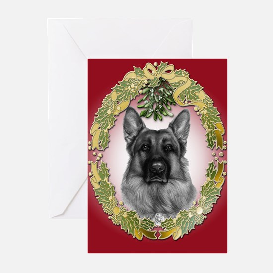 German Shepherd K9 Christmas Cards (Pk of 10)