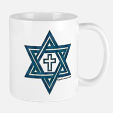 Star Of David & Cross Mug