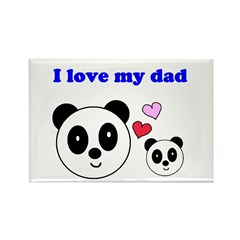 I LOVE MY DAD Rectangle Magnet (10 pack)
