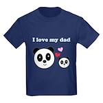 I LOVE MY DAD Kids Dark T-Shirt
