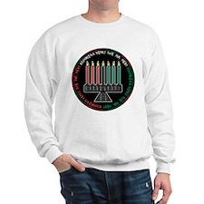 Kwanzaa Candles (Round) Sweatshirt
