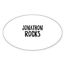 Jonathon Rocks Oval Decal