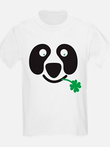 Green Irish St Patricks day Panda T-Shirt