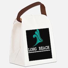 Cute Long beach california Canvas Lunch Bag