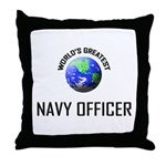 World's Greatest NAVY FORCES OFFICER Throw Pillow