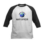 World's Greatest NAVY FORCES OFFICER Kids Baseball