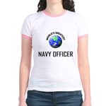 World's Greatest NAVY FORCES OFFICER Jr. Ringer T-