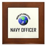 World's Greatest NAVY FORCES OFFICER Framed Tile