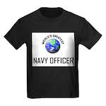 World's Greatest NAVY FORCES OFFICER Kids Dark T-S