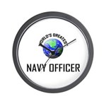 World's Greatest NAVY FORCES OFFICER Wall Clock