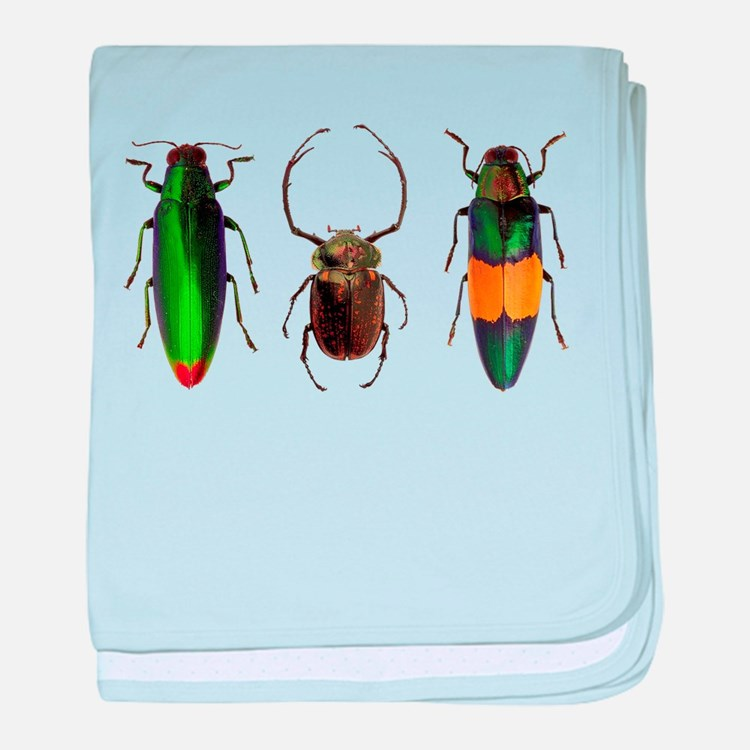 Colorful Insects baby blanket