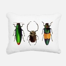 Colorful Insects Rectangular Canvas Pillow