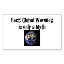 Anti-Global Warming Bumper Sticker (White)