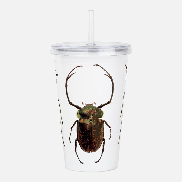 Colorful Insects Acrylic Double-wall Tumbler