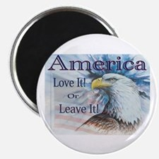 """America Love It or Leave It 2.25"""" Magnet (10 pack)"""