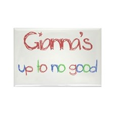 Gianna's Up To No Good Rectangle Magnet