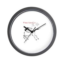 Free Your Chi Horse Wall Clock