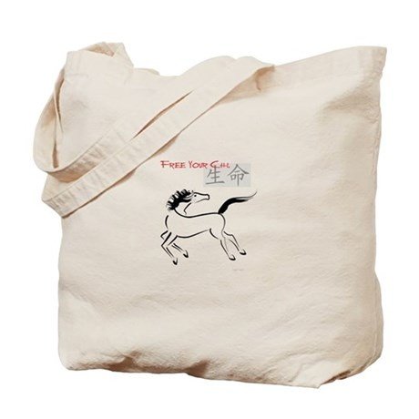 Free Your Chi Horse Tote Bag