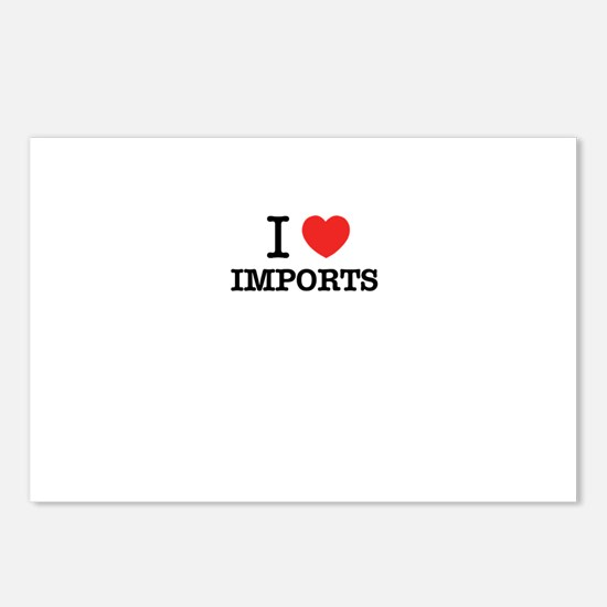 I Love IMPORTS Postcards (Package of 8)