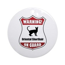 Shorthair On Guard Ornament (Round)