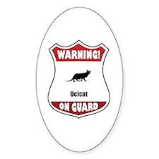 Ocicat On Guard Oval Decal