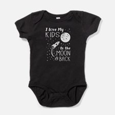 I Love My Kids to the Moon and Back Baby Bodysuit