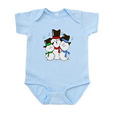 3 Singing Snowmen Infant Bodysuit