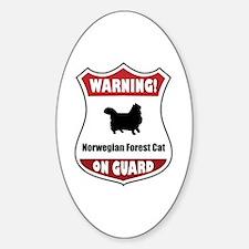 Wegie On Guard Oval Decal
