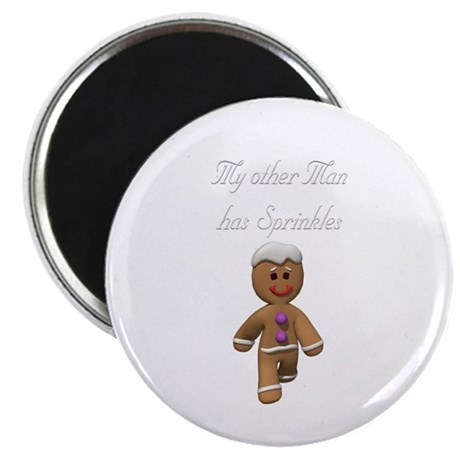 My Other Man has Sprinkles Gingerbread Man Magnet