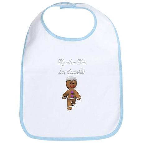 My Other Man has Sprinkles Gingerbread Man Bib