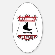 Nebelung On Guard Oval Decal