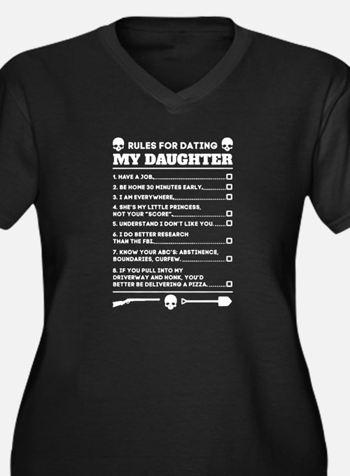 Rules For Dating My Daughter Fun Plus Size T-Shirt