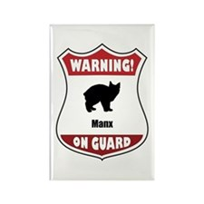 Manx On Guard Rectangle Magnet