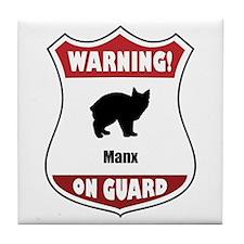 Manx On Guard Tile Coaster