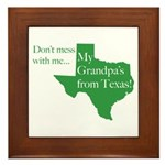 Grandpa's From Texas Framed Tile