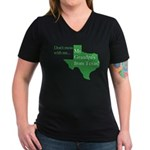 Grandpa's From Texas Women's V-Neck Dark T-Shirt
