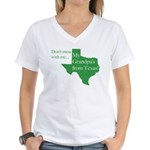 Grandpa's From Texas Women's V-Neck T-Shirt
